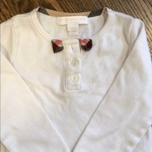 Burberry 12M shirt with bow